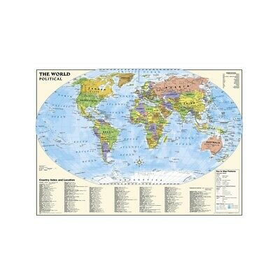AU12.92 • Buy WORLD MAP ATLAS POLITICAL MAPS POSTER SIZE 59*39in