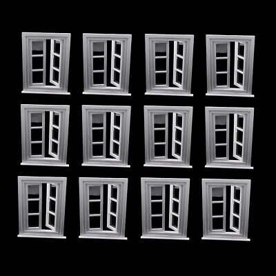 £52.40 • Buy Lots 12 1/12 White Window Frames Dollhouse Decor Toddlers Pretend Playset
