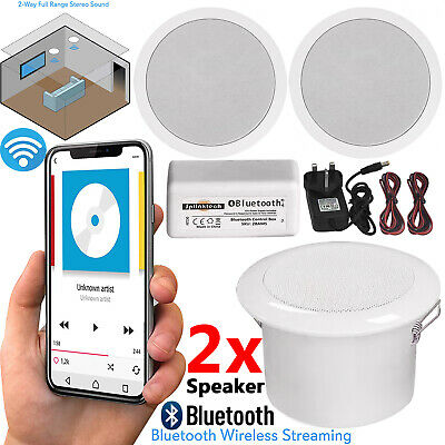 £29.95 • Buy 30W Wireless Bluetooth Ceiling Speakers And Amplifier System Bathroom Or Kitchen