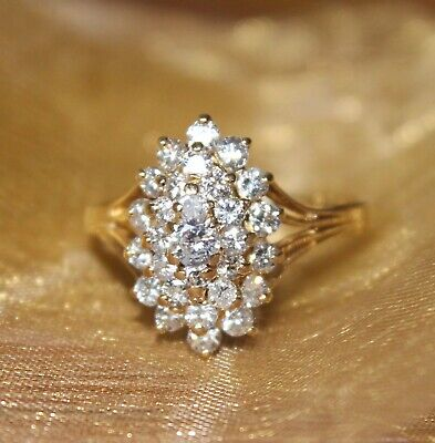AU1479 • Buy Gold Diamond Cluster Ring - 18ct Gold