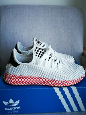 AU54 • Buy Adidas Deerupt Runner White Solar Red Men's Shoes Sneakers Size 12