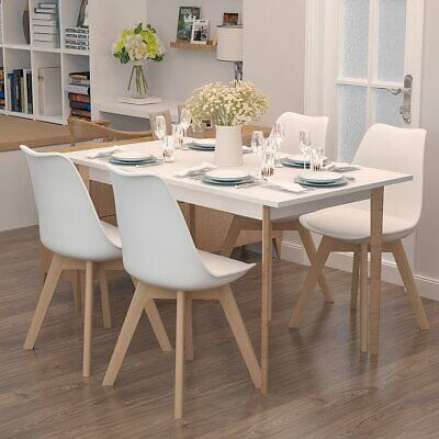 £82.99 • Buy Large Rectangle Dining Table And 2/4 Chairs Set  Kitchen Dinning Room Furniture