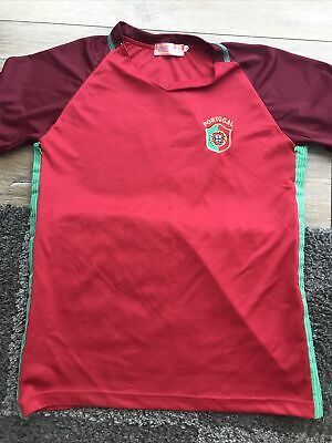 """£0.99 • Buy Boys Football Top Red """"portugal"""" Size S"""