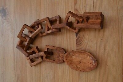 £30 • Buy Traditional Hand Carved Welsh Love Spoon Chain Wedding