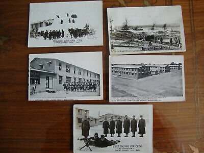 $14 • Buy Lot: Postcards Of Camp Grant, Rockford, Illinois, Stamped And Cancelled 1918
