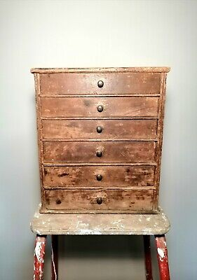£145 • Buy Vintage Collectors Chest Of Drawers Former Watchmakers / Engineers Cabinet
