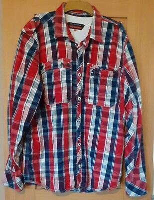 £4.50 • Buy Mens Duck And Cover Long Sleeve Check Shirt Size 2XL
