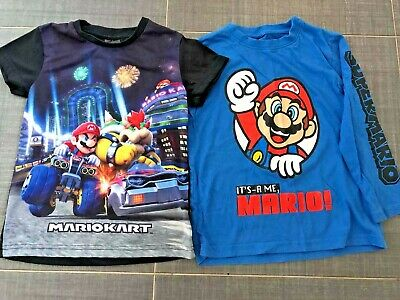 £3.50 • Buy Two Mario Kart Tops - One Long Sleeve And One Short Sleeve Age 5 - 6 Years