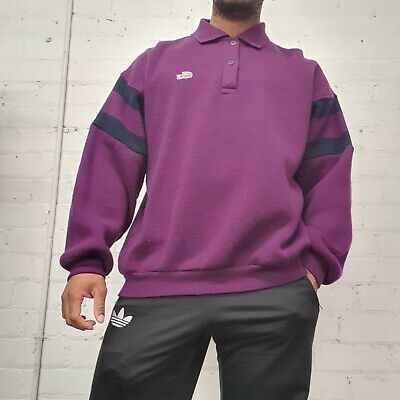 $41.71 • Buy Vintage Lacoste Chemise 1/4 Button Longsleeve Polo Jumper Size Xl Made In France