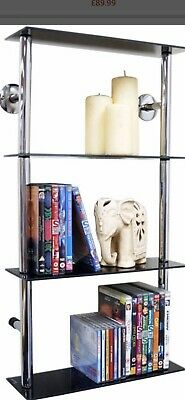 £20 • Buy Wall Mounted Glass Shelve Height 79cm Width40cm Dept14cm In Good Condition