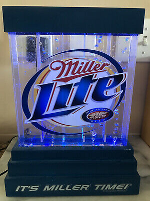 $150 • Buy Miller Lite Bubble Bubbling Water Motion Advertising Beer Sign Bubbler