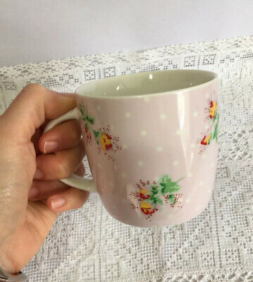 £7.98 • Buy Cath Kidston Small Mug Pink Spotty Floral Design Queens Tea Coffee Cup 3  Tall
