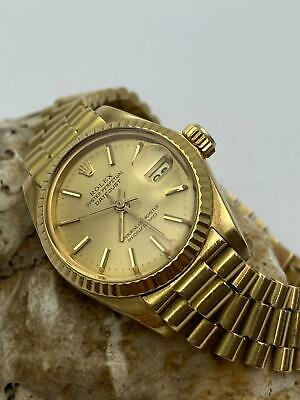 $ CDN4495.23 • Buy Lady Rolex Solid 18K Yellow Gold Datejust President Watch W/Champagne Dial 6917