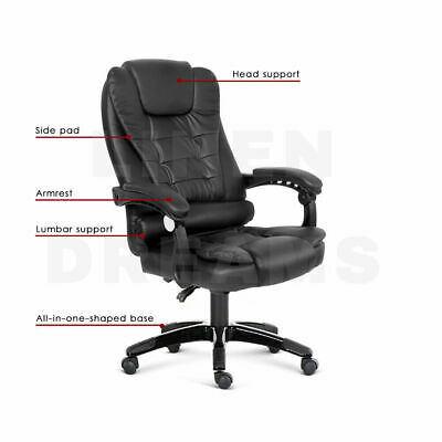 AU39.99 • Buy New Office Chair PU Leather Reclining Massage Chair Black