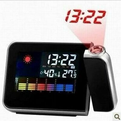 £28.44 • Buy Projection Type Luminous Alarm Clock Temperature Weather Humid Display Monitor