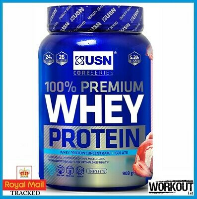 £22.95 • Buy USN 100% Premium Whey Protein 908g High Quality Whey Protein