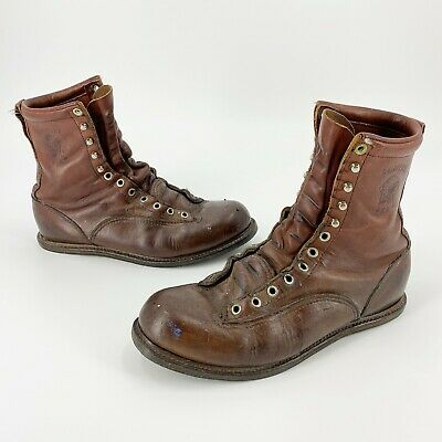 $34.99 • Buy Chippewa USA Men's 8.5 D Brown Leather Distressed 7  Work Boots - Needs Resoling