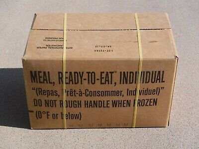$49.99 • Buy Military MRE Menu Sealed Case A, Inspection Date 4/2021