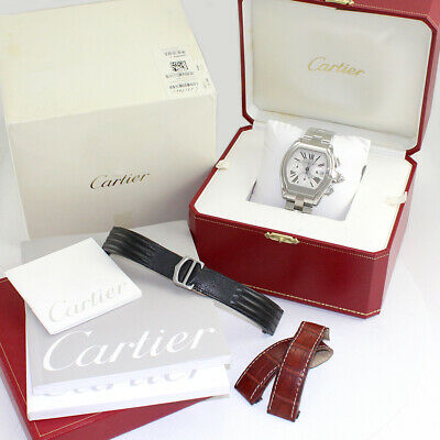 $6450 • Buy Cartier Roadster XL W62019X6 Silver Roman Dial Stainless Steel W/Box And Papers