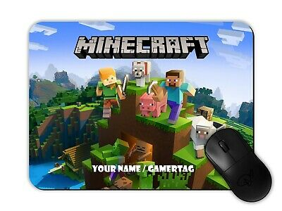 $ CDN13.87 • Buy Minecraft Gamer Mouse Mat Pad Personalised With Any Name/gamertag