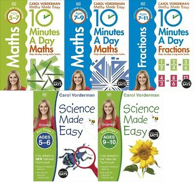 £3.99 • Buy **NEW** CAROL VORDERMAN MATHS & SCIENCE  Made Easy  BOOKS - VARIOUS, YOU CHOOSE!