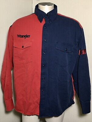 $25 • Buy Wrangler Embroidered Western Mens Sz XL Rodeo Cowboy Bull Riders Shirt