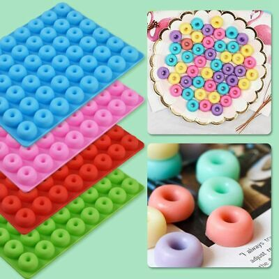AU11.58 • Buy 48 Cavity Mini Donut Mold Silicone Tray Jelly Ice Cube Candy Cookie Dessert Mold