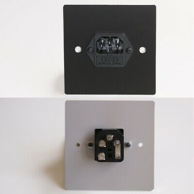 £27.60 • Buy Black Metal Wall Face Plate, IEC C14 Power, Male, 10 Amp Fuse, Solder Connectors