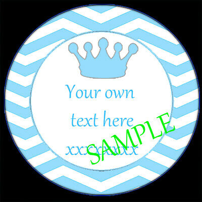 £1.30 • Buy Personalised Stickers Crown Birthday Party Christening Boy Girl Cone Bag Labels