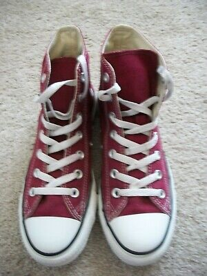 $19.99 • Buy Mens Size 6 Womens 8 Converse Chuck Taylor All Star Burgundy High Top Shoes 771