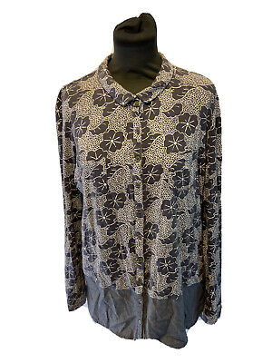 £9.99 • Buy White Stuff Floral Print Button Up Top Size 14