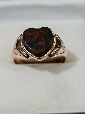 £76 • Buy Victorian Men's Gents Antique 9ct Gold Signet Bloodstone Ring Chester 1901