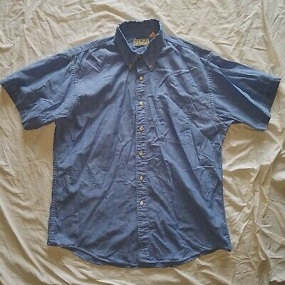 $24.99 • Buy Vintage L.L. Bean Chambray Button Down Short Sleeve Large