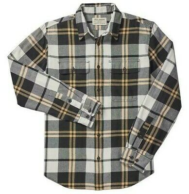 $29.99 • Buy Filson Scout Shirt - XS - 20049628 Lightweight Flannel Black Gold White Check