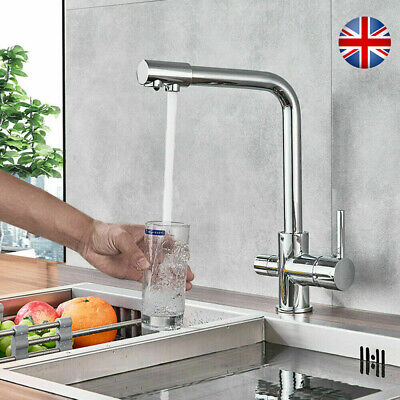 £41.99 • Buy 3-way Chrome Kitchen Sink Faucet Waterfilter Tap Mixer Drinking Water Filter
