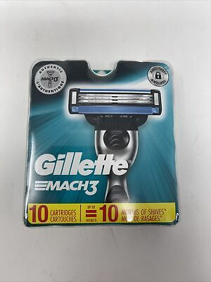 $14.75 • Buy Gillette Mach3 Mach 3 Refill Razor Blades Pack Of 10 New Sealed Free Shipping