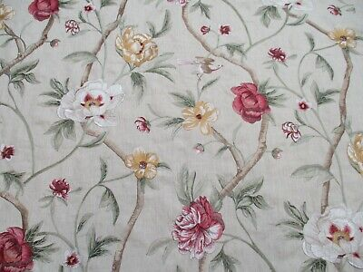 £124.99 • Buy Zoffany Curtain Fabric 'FLOWERING TREE' 3 METRES PINK/GREEN - Embroidered