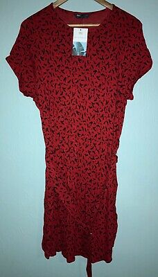 £6 • Buy New With Tags Marks & Spencer Collection Beachwear Red Short Sleeve Dress, 16