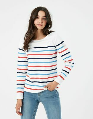 £24.95 • Buy Joules Womens Harbour Long Sleeve Jersey Top - Cream Navy Red Blue Stripe