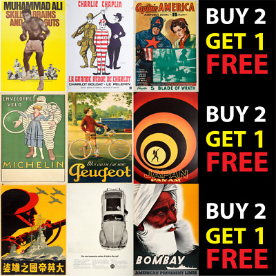 £3.90 • Buy  3. Assorted Metal Tin Plaque Sign Variety Vintage Wall Poster Pub Bar Man Cave