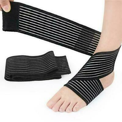£3.15 • Buy New Ankle Foot Support Strap Adjustable Elastic Compression Bandage Sports Wrap