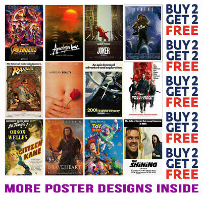 £8.99 • Buy Imdb 100 Best Movies Posters 50-100 -  A4 A3 Size Buy 2 Get Any 2 Free