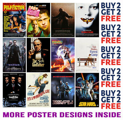 £8.99 • Buy Imdb 100 Best Movies Posters 1-50  A4 A3 Size Buy 2 Get Any 2 Free