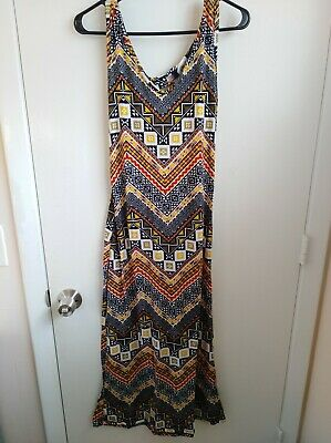 AU34.32 • Buy Blue Star Clothing Women's Knit Maxi Dress Lot Of 2 Size Large Blue And Yellow
