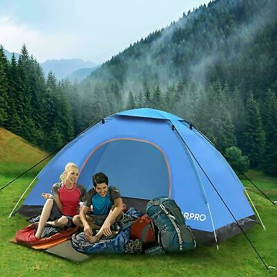AU36.89 • Buy 3-4 Man Person Pop Up Tent Family Festival Camping Auto Hiking Beach Dome Tent