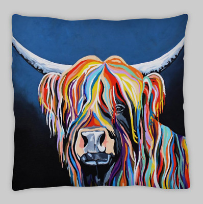 £7.99 • Buy Highland Cow Double Sided Cushion Covers 45x45cm (18x18)