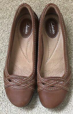 £14.99 • Buy Clarks Artisan Size 5 Tan Cushioned Pumps Flats Ballerinas Worn Once