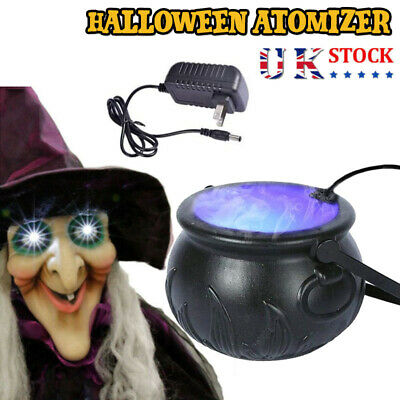 £13.99 • Buy New! Halloween Witch Cauldron Fog Maker With Led Lights Party Decor Prom Prop UK