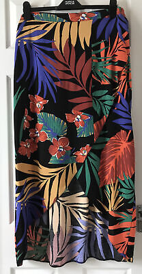 £6.49 • Buy George Size 20 Tropical Print Maxi Skirt With Wrapover Beach Boho Holiday