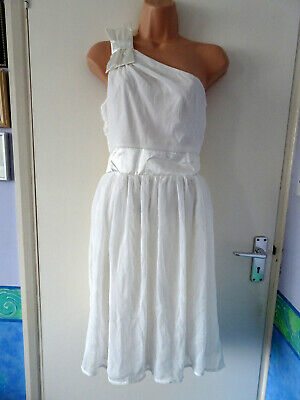 £2.99 • Buy White Dress. Size 8/10 Or Teen. Party Prom. One Shouldered